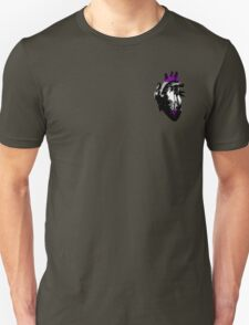 Gray-Asexual Pride Heart (with black detail) T-Shirt