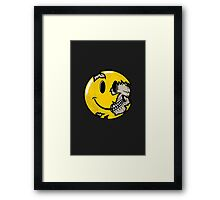 Smiley face skull Framed Print