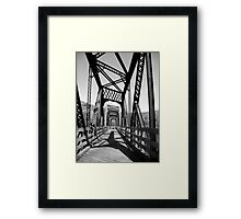 B&W Bridge Framed Print