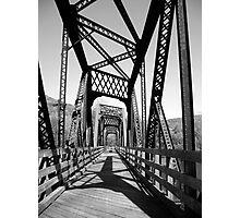 B&W Bridge Photographic Print