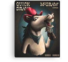 Quick Draw McGraw, the Remix Canvas Print