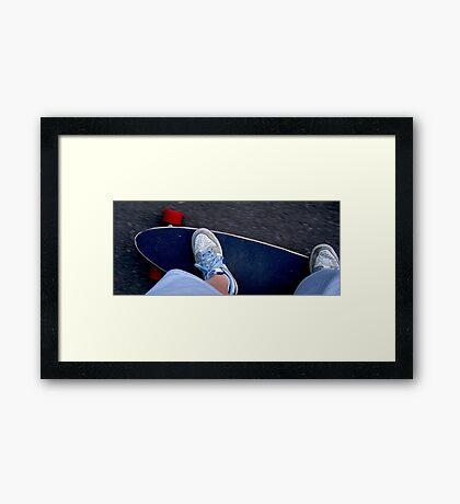 Longboarding Framed Print
