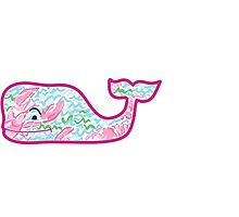 Vineyard Vines Whale w/ Lilly Pulitzer lobster pattern Lobstah Roll V2 Photographic Print