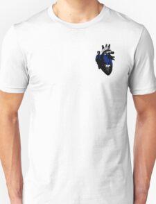 Greygender Pride Heart (with black detail) T-Shirt