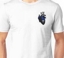 Greygender Pride Heart (with black detail) Unisex T-Shirt