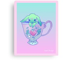 Bunny Tea Canvas Print