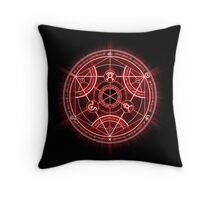 Human Transmutation Circle - Red Throw Pillow