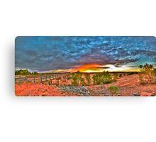 The River Runs Dry Canvas Print