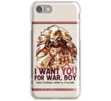 I Want YOU for WAR, BOY (dark colors) iPhone Case/Skin