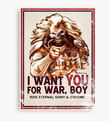 I Want YOU for WAR, BOY (dark colors) Canvas Print