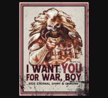 I Want YOU for WAR, BOY (dark colors) Kids Tee