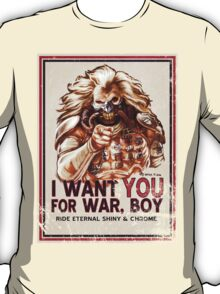 I Want YOU for WAR, BOY (dark colors) T-Shirt