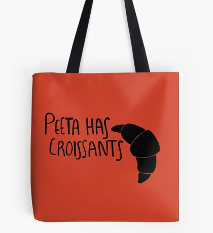 The Baker Has Croissants (Black Design) Tote Bag
