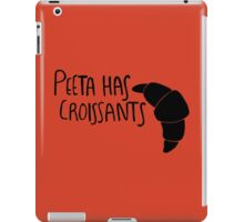 Peeta Has Croissants - Black iPad Case/Skin