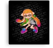 Splatoon Inkling Girl Canvas Print