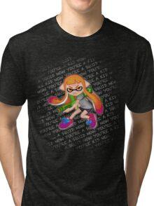 Splatoon Inkling Girl Tri-blend T-Shirt