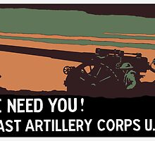 We need you! Coast Artillery Corps USA by warishellstore