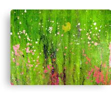 Pink Flowers in Meadow Canvas Print