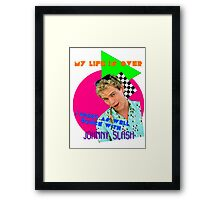 Dancing with Johnny Slash Framed Print