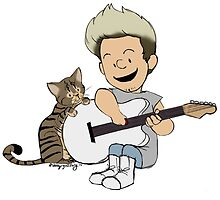 Niall and Guitar by ashleyrguillory