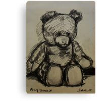 Teddybear, on A4  sketching paper Canvas Print