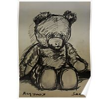 Teddybear, on A4  sketching paper Poster