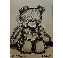 Teddybear, on A4  sketching paper Photographic Print