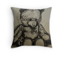Teddybear, on A4  sketching paper Throw Pillow