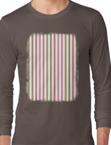 Pink Roses in Anzures 2 Stripes 1V Long Sleeve T-Shirt