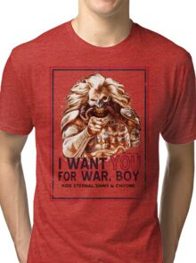 I Want YOU for WAR, BOY Tri-blend T-Shirt