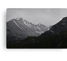 Black and White Mountain Canvas Print