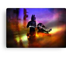 Batman Defeats Penguin Canvas Print