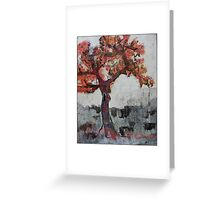 cold tree Greeting Card