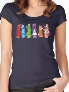 Pop Otters Women's Fitted Scoop T-Shirt
