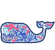 Vineyard Vines Whale w/ Lilly Pulitzer shells beach pattern she she shells by Seaweed4