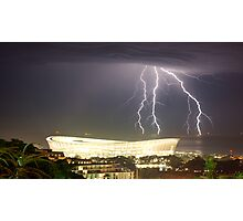 2010 Stadium & Storm Photographic Print