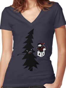 Lumberjack-In-The-Box Women's Fitted V-Neck T-Shirt