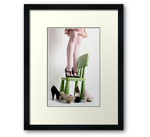 three pairs of shoes Framed Print