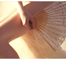 Pearly Light and White Fan by Rebecca Tun