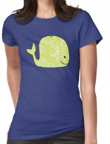 Whale: Yellow Womens Fitted T-Shirt