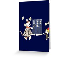 Doctor and Daleks Greeting Card