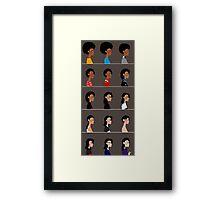 Michael busts. Framed Print