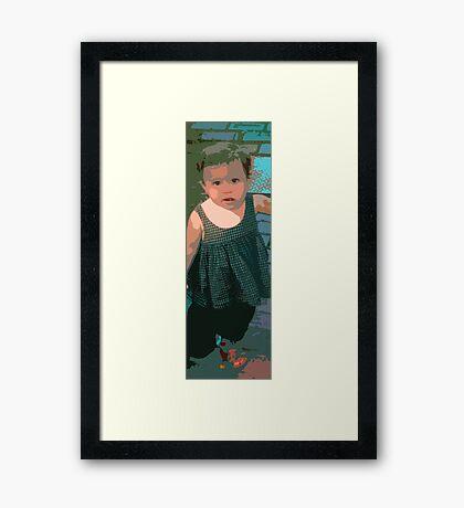 Girl, Marthas Vineyard Framed Print