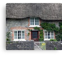 Thatched Roof House in Ireland Canvas Print
