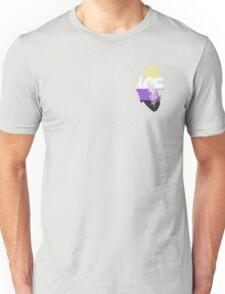 Nonbinary Pride Heart Unisex T-Shirt