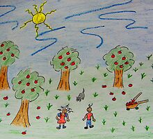 Little Apple Orchard by Linda Miller Gesualdo