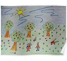 Little Apple Orchard Poster