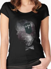 Doctor Who Eleventh Doctor Grunge Women's Fitted Scoop T-Shirt