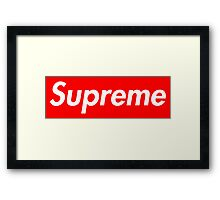 Pink Supreme Small Box Media Cases, Pillows, and More. Framed Print