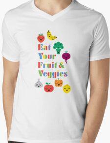 Eat Your Fruit & Veggies lll Mens V-Neck T-Shirt